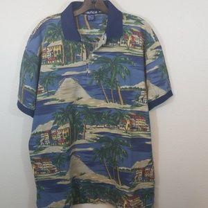 Nautica Men's Medium Island Print Polo